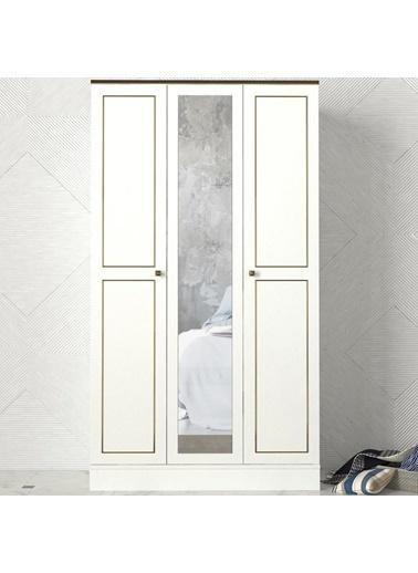 Dekorister Dekorister Exclusive Ravenna 2 Kapılı Gardırop Beyaz